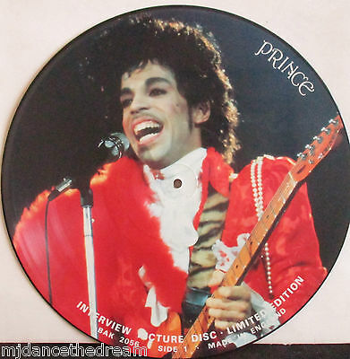 """PRINCE ~ Interview ~ 12"""" Single PICTURE DISC"""