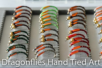 72 Boxed Epoxy Buzzers Std and Gold head 12 colours Trout Fly Fishing Flies