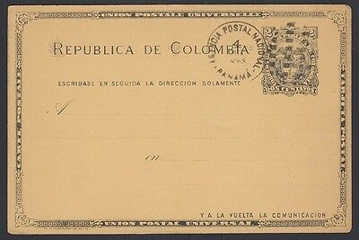 COLOMBIA, 1893. Post Card H&G 13,  Panama