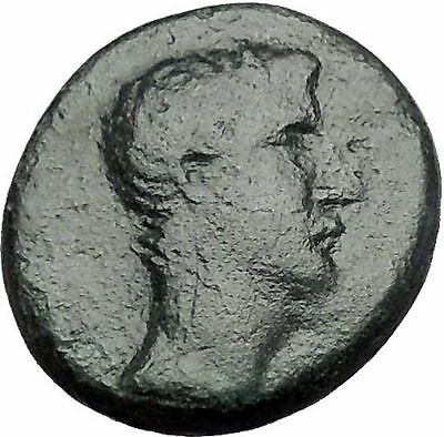AUGUSTUS 27BC Ancient Roman Coin Greek City Amphipolis ARTEMIS on BULL  i55333