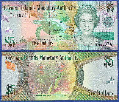 KAIMANINSELN / CAYMAN ISLANDS 5 Dollars 2010 UNC  P.39