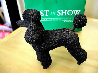 Country Artists Best In Show Poodle - Black 03952 Bnib