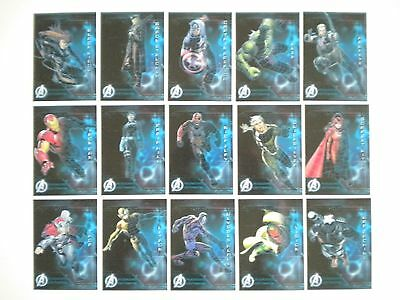 2015 Upper Deck Avengers Age of Ultron Database 15 Cards Complete Set