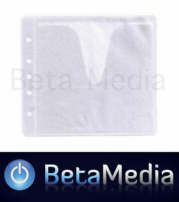 1000 x White CD / DVD Double Sided Plastic Sleeves - Holds 2000 discs