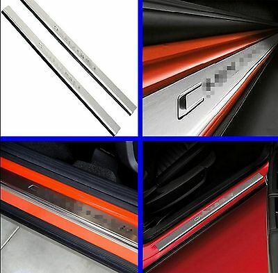 Stainless Door Sill Protector Scuff Plate Entry Guard For 08-16 Dodge Challenger