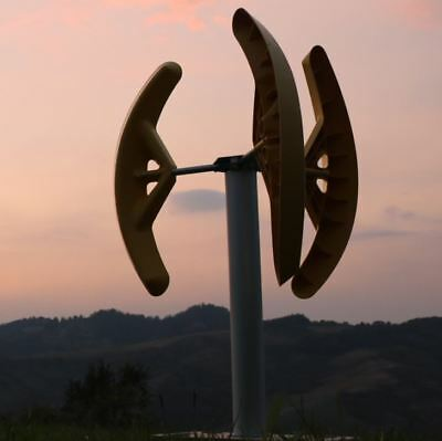 Domestic Vertical axis wind turbine generator 500W Savonius  House Boat Garden