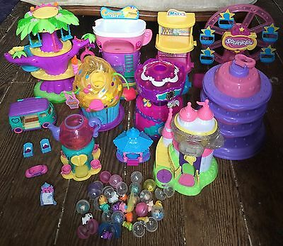 Squinkies Lot of 20 Squinkies + Bubbles With Dispenser Playsets Ferris Wheel