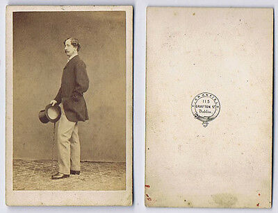 CDV Photograph Gentleman With Top Hat Carte De Visite By Cranfield Of Dublin