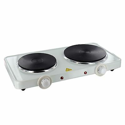 Double Electric Portable Hotplate Hob  Table Top Cooker Camping Caravan Stove