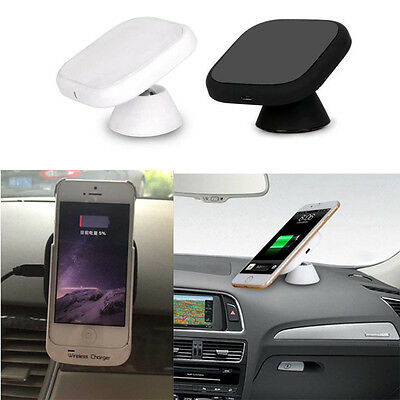 Qi Car Fast Wireless Charger Charging Pad Magnetic Stand For Samsung S7/S7 Edge
