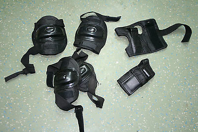 Children's/Child Elbow, Knee and Wrist Skateboard Pads Black Multiple Choices
