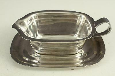 Vintage Silverplate REED & BARTON Gravy Boat & Underplate 5000 Mayflower Pattern