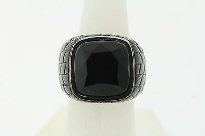 Shaquille O/'Neal 16mm Black Stainless Steel Silver Basketball Accent Ring