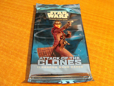Star Wars Tcg Attack Of The Clones Sealed Booster Pack Of 11 Cards