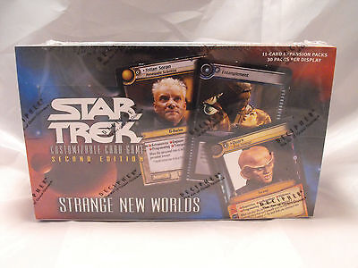 Star Trek Ccg 2E  Strange New Worlds Complete Sealed Box Of 30 Booster Packs