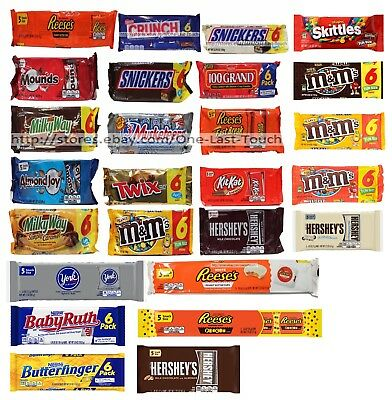 SNACK/FUN SIZE^ 5-6 Pack CHOCOLATE BARS Candy Bag Exp. 6/17+ *YOU CHOOSE* New!