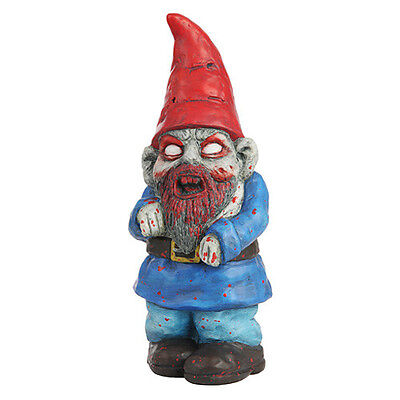 Scary Halloween Zombie Garden Gnome Handcrafted terracotta weather resistant
