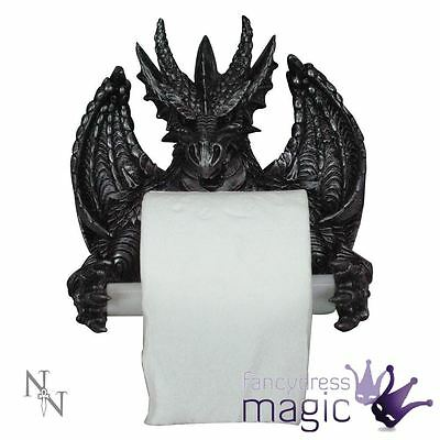 Nemesis Now Dragon Toilet Roll Holder Halloween Decoration Bathroom Gothic Gift
