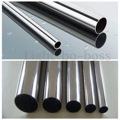 New 304 Stainless Steel Round Tube Wall 1/1,5/2mm Various Diameters Lengths