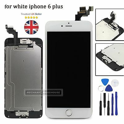 For iPhone 6 Plus LCD Touch Screen Digitizer Display Home Button Camera White UK