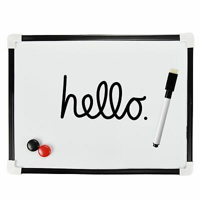 A4 Dry Wipe Magnetic Mini Office Whiteboard Notice Memo White Board Pen & Eraser