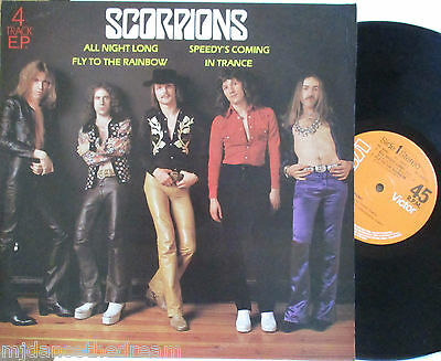 """SCORPIONS ~ All Night Long ~ 4 TRACK EP 12"""" Single PS"""