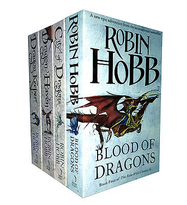 Robin Hobb Trilogy 4 Books Set The Rain Wild Chronicles Collection