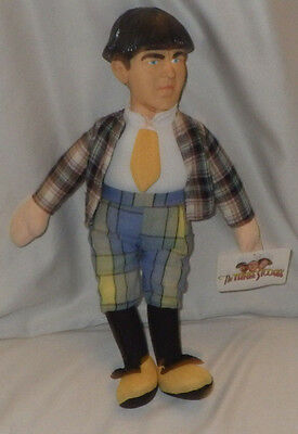 "Play by Play The Three Stooges Figure Doll Moe Toy 14"" Tall NWT"