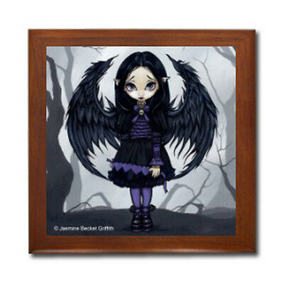 PURPLE PAPER HEARTS FAERY Fairy Ceramic Tile Jewelry Box Jasmine Becket-Griffith