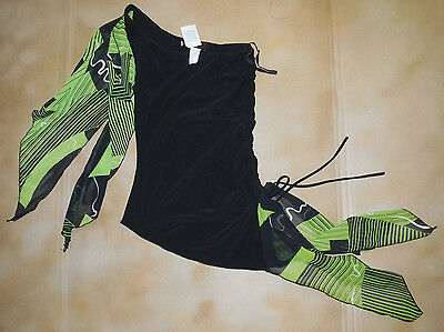 NWT Black Top with Attached Green and Black Flyers Medium Adult