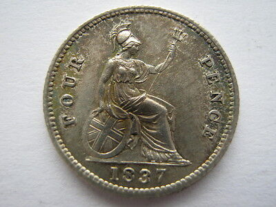 1837 Groat or Fourpence GEF #1