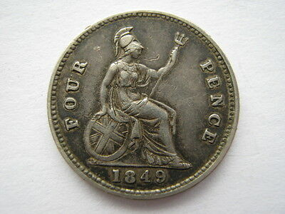 1849 Groat or Fourpence VF