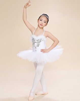 Kids Girls Ballet Dress Leotard Tutus Dancewear Dance Dress Swan Lake Ballet