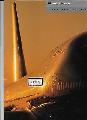 Asiana Airlines The Jewel Of Asia 1992 Glossy Brochure 747-400-F/a's- Service