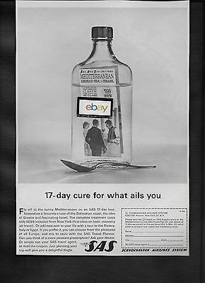 Sas Scandinavian 1962 17 Day Cure For What Ails You Mediterranean Ad