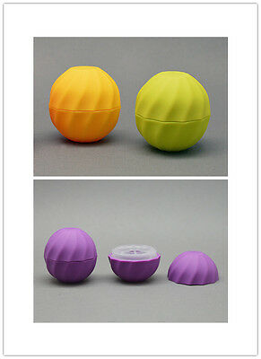 10pcs Cosmetic Ball Container 7g 4color Lip Balm Jar Eye Gloss Cream Sample Case