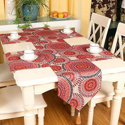 Rustic Style Table Runner Placemat Embroidered Cloth Wedding Home Decoration New