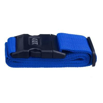 Password Lock Travel Luggage Belt Packing Strap Blue w/ Tag Label Up to 2 M