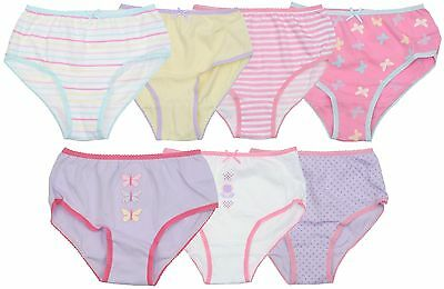 Ex Store Multi Pack of Girls 100% Cotton Knickers