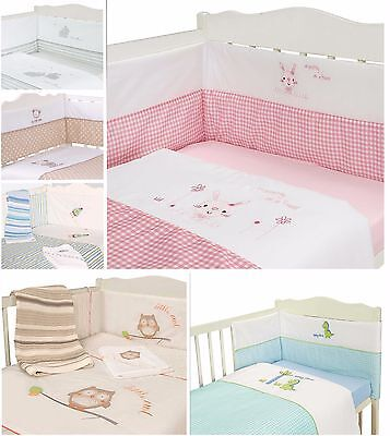 Luxury 2/3 Piece Baby Bale Set Bumper Quilt Fitted Sheet Unisex Cot/ Cot Bed