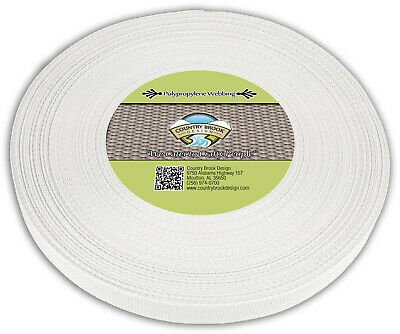Country Brook Design® 1 Inch White Polypro Webbing, 10 Yards