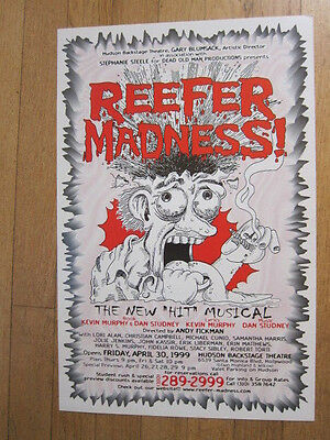 REEFER MADNESS Musical poster 1999 11x17