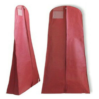 "Breathable Bridal Wedding Garment Dress Bag Red Mesh Large 72"" Storage Travel"