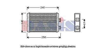 AKS DASIS Heat exchanger, Interior heating 059003N