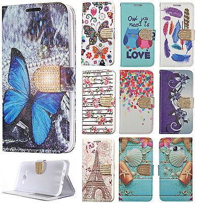 For Samsung Galaxy J7 Leather Premium Wallet Case Pouch Flip Phone Cover