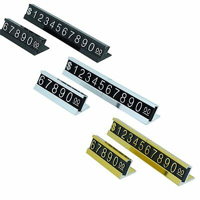 White, Gold or Silver Number with Base Adjustable Price Display Stand Tag Label