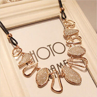 Fashion Women Charm Chunky Choker Collar Statement Bib Necklace Pendant Jewelry