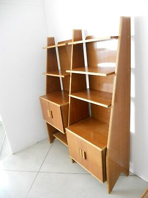 -Libreria in teak e profili in Acero  - teak and maple italian bookshelf
