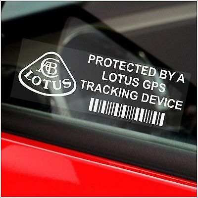 5 x LOTUS Tracking GPS Device Security Stickers-Elise-Car Alarm Tracker Signs