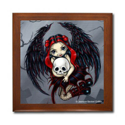 SKULL STEALER Fairy Ceramic Tile Jewelry Trinket Box Jasmine Becket-Griffith
